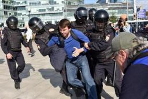 """Les arrestations à Moscou """"violent"""" les obligations internationales de la Russie"""