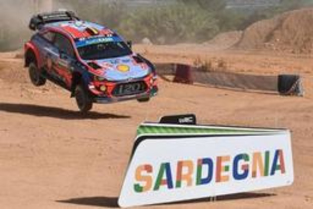 Thierry Neuville 3e temps du shakedown au rallye de Sardaigne