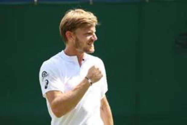 Wimbledon: David Goffin bat le Français Jeremy Chardy en trois sets au deuxième tour