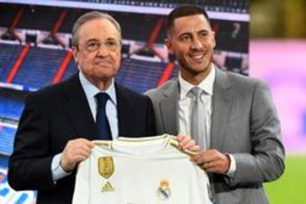 """""""Ik wil van dit moment genieten"""", zegt Hazard tijdens voorstelling bij Real"""