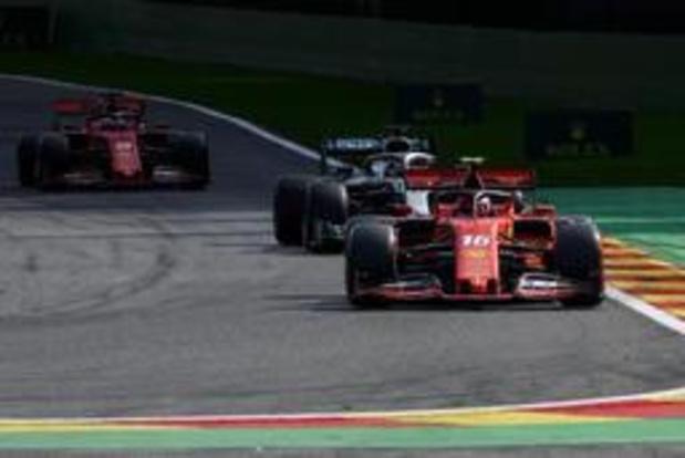 F1 - GP van België - Grote Prijs van België gaat zondag door