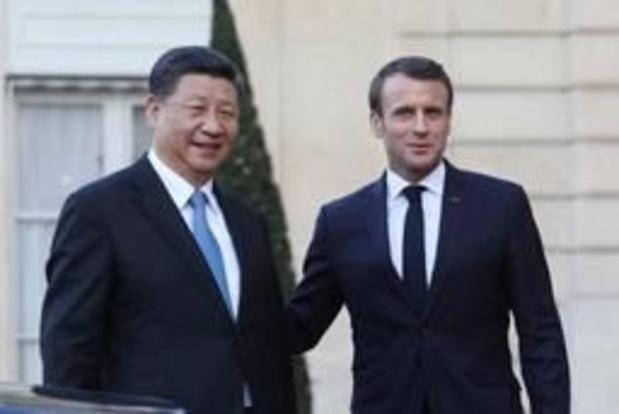 """Macron appelle la Chine à être """"partenaire"""" de la France en Afrique"""