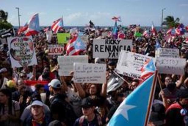 Des milliers de manifestants demandent la démission du gouverneur de Porto Rico