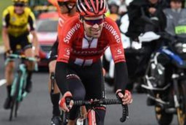 Tom Dumoulin wegens knieblessure niet naar Tour de France