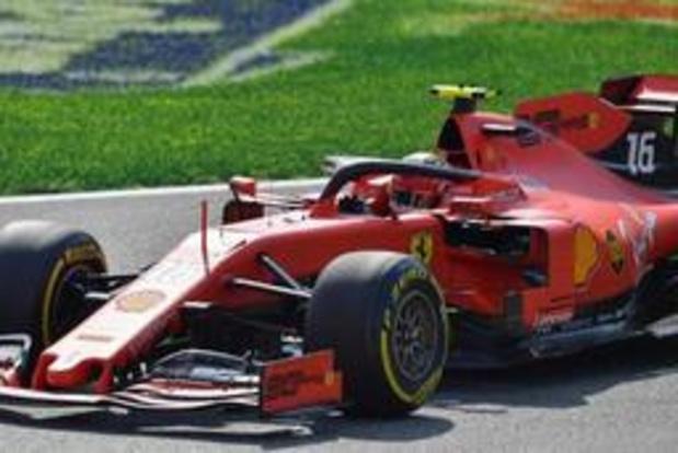 Charles Leclerc (Ferrari) signe la pole à Monza après une Q3 avortée