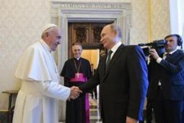 Poetin voor derde keer bij de paus op bezoek
