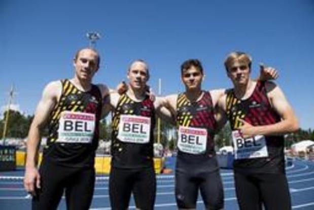 EK atletiek U23 - Belgisch kwartet verovert brons op 4x100m