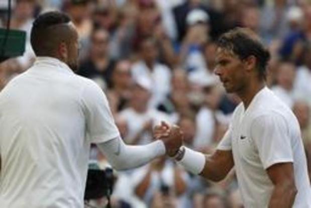 Wimbledon - Rafael Nadal vainqueur, après quatre sets et deux jeux décisifs, de Kyrgios au 2e tour