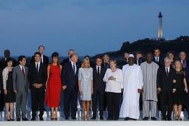 G7-top Biarritz - Top wordt afgesloten met gesprekken over klimaat en digitale economie