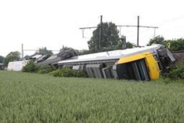 Lege passagierstrein die ontspoorde in Neufvilles, reed drie keer te snel