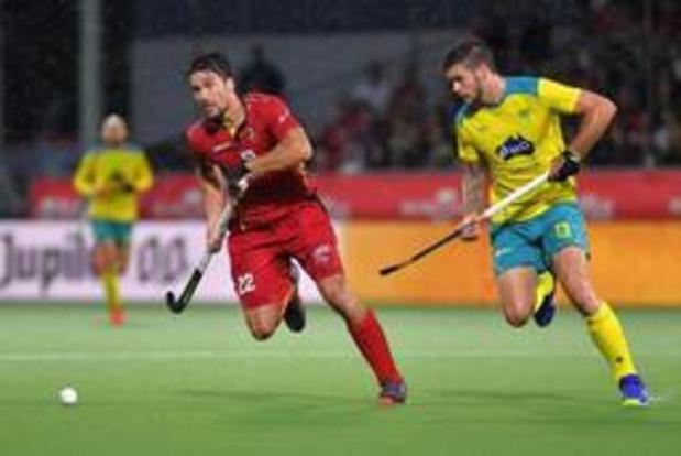 Hockey Pro League - La Belgique s'incline 0-2 devant l'Australie, assurée de la 1e place avant le Final Four