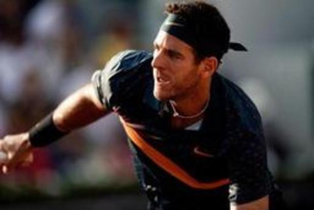 US Open - Argentijn Juan Martin del Potro geeft geblesseerd forfait