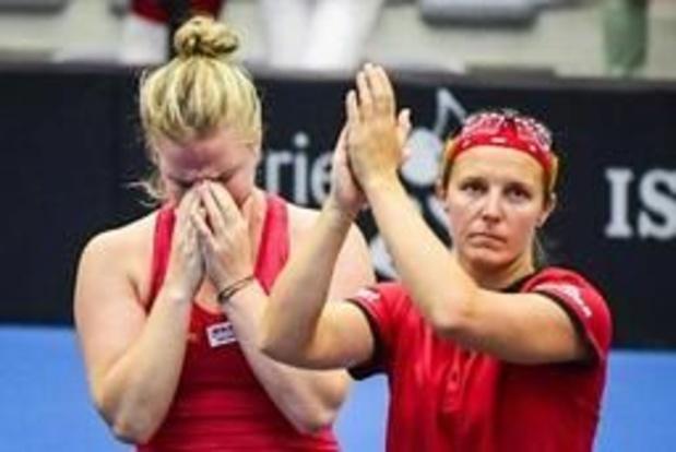 Fed Cup - Nederlaag in dubbelspel laat Flipkens en Bonaventure achter met kater