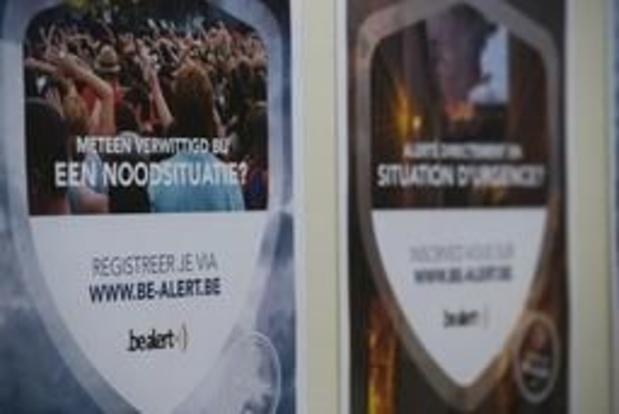 80 pct gemeenten aangesloten op BE-Alert - 551.000 burgers geregistreerd