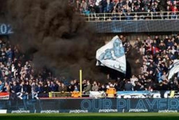Les chants des fans brugeois, sur les Juifs et les gays, à Anderlecht non sanctionnés