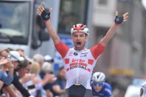 Victor Campenaerts (Lotto Soudal) remporte la 4e étape à Seraing du Baloise Belgium Tour