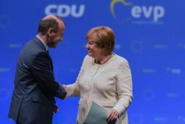 Sommet européen - Angela Merkel martèle son soutien à Weber pour la présidence de la Commission