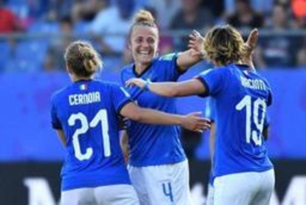 Mondial féminin: l'Italie se défait de la Chine et rejoint les quarts