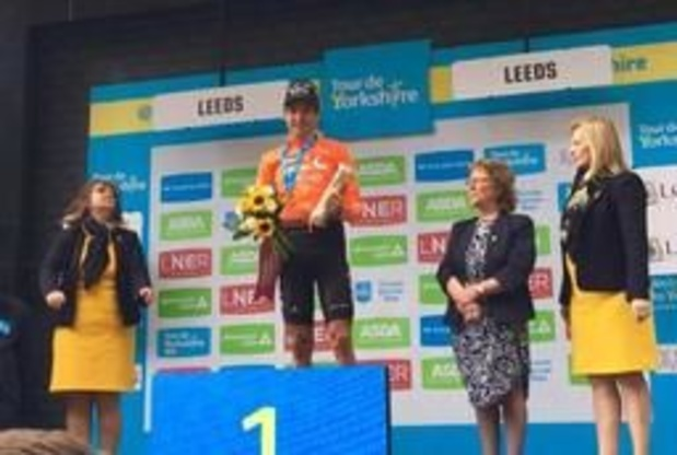 """Ronde van Yorkshire - Gelukkige Greg Van Avermaet: """"Fijn om met een zege rustperiode in te gaan"""""""