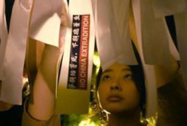 Honderdduizenden mensen in Hongkong nemen deel aan nieuwe massabetoging
