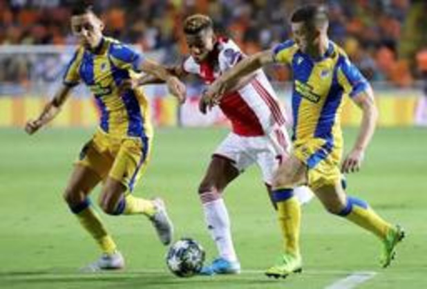 Ligue des Champions - L'Ajax échappe à la défaite contre l'APOEL, Prague gagne à Cluj