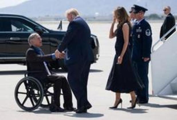 Schietpartijen VS - Trump aangekomen in El Paso