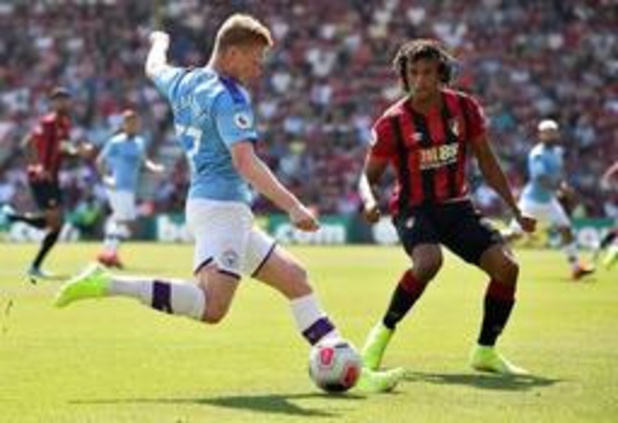 Manchester City s'impose à Bournemouth (1-3), 50e assist pour De Bruyne
