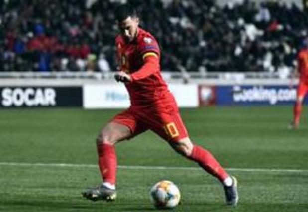 Eden Hazard mis à l'honneur pour sa 100e cap avant le match contre le Kazakhstan