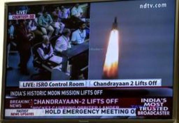 L'Inde a lancé sa deuxième mission lunaire, Chandrayaan-2
