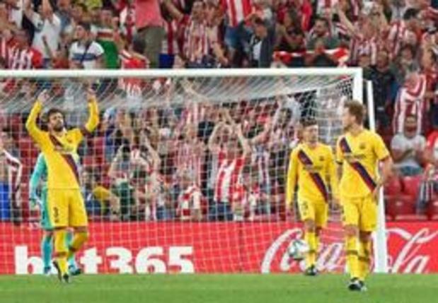 Primera Division - Une défaite amère pour le Barça à l'Athletic Bilbao (1-0) en ouverture du championnat