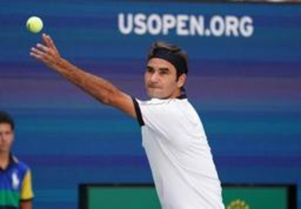 Roger Federer aisément en 8es de finale de l'US Open en attendant Goffin