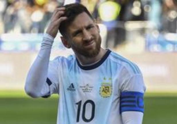 Lionel Messi mag drie maanden niet voor Argentinië spelen na uitbarsting op Copa America