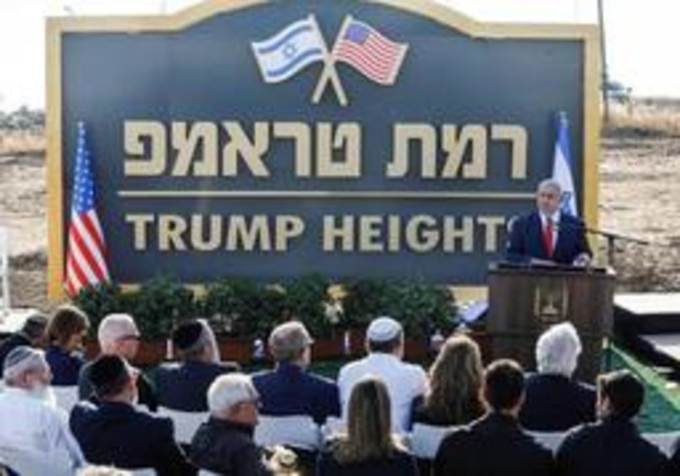 Nieuwe nederzetting op Golanhoogte wordt 'Trump Heights'