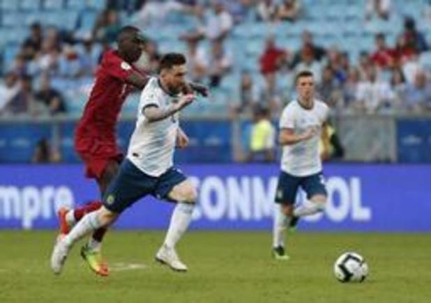 Copa America - Messi en co redden hun vel met 2-0 zege tegen Qatar
