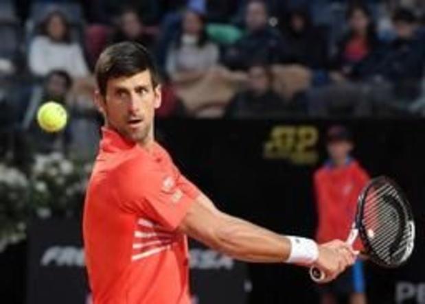 ATP Rome - Djokovic knokt zich voorbij Schwartzman en vervoegt Nadal in droomfinale
