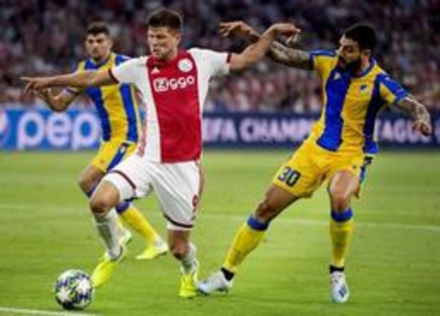 Champions League - Ajax grijpt tegen APOEL ticket voor poulefase, ook Slavia Praag stoot door
