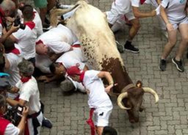 Minstens vijf gewonden bij stierenrennen in Pamplona