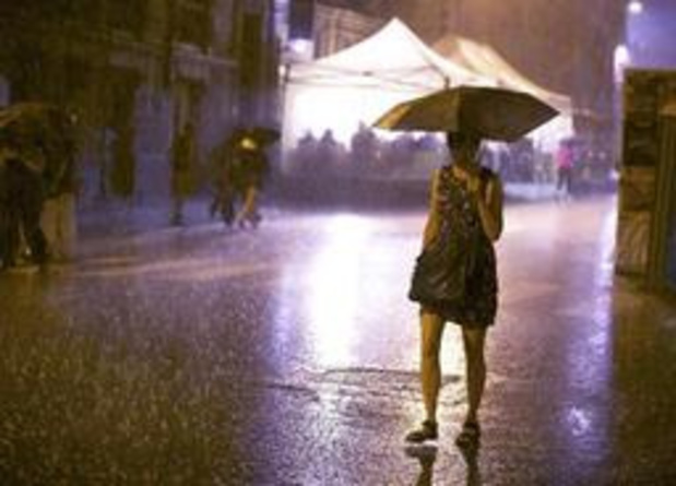 KMI waarschuwt voor fikse regen met code geel