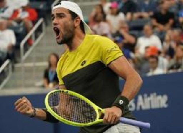 US Open - Italiaan Matteo Berrettini voor het eerst in kwartfinale Grand Slam