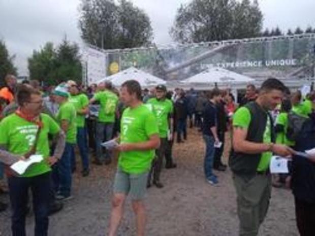 Action de gardes forestiers et agents du DNF aux démonstrations forestières à Bertrix