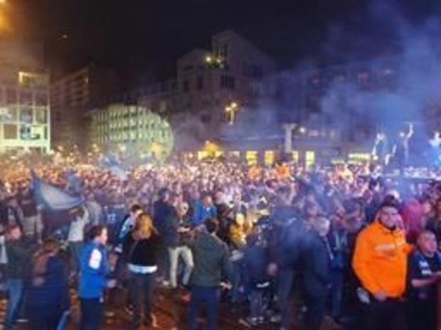 Jupiler Pro League - Stadsplein in Genk ontploft na behalen van landstitel KRC Genk