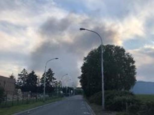 Incendie dans une entreprise des Hauts-Sarts à Liège