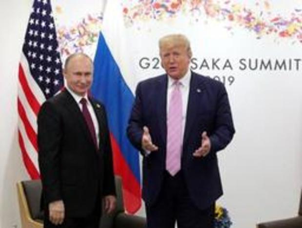 Poetin nodigt Trump uit voor bezoek aan Rusland in mei 2020