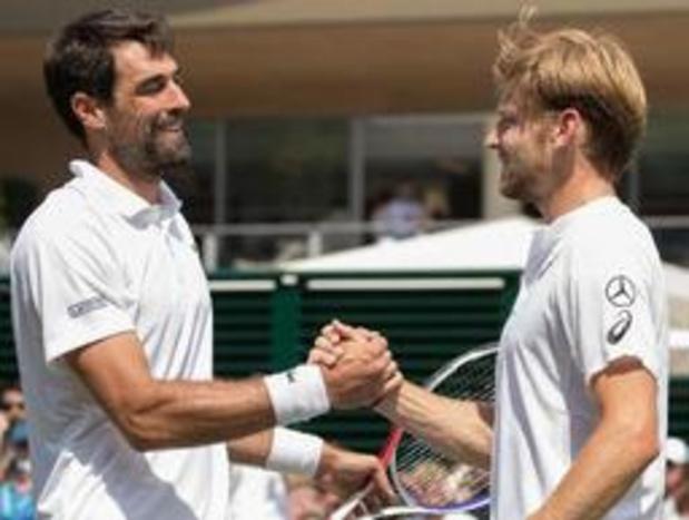 Wimbledon - David Goffin a remporté son 250e match sur le circuit contre Jérémy Chardy