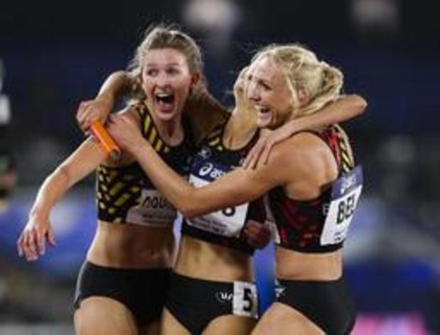 Hanne Claes sacrée sur 400 m haies, Paulien Couckuyt deuxième et qualifiée pour Doha