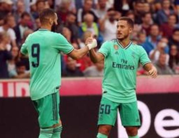 Belgen in het buitenland - Hazard scoort eerste keer voor Real Madrid in oefenduel tegen Salzburg