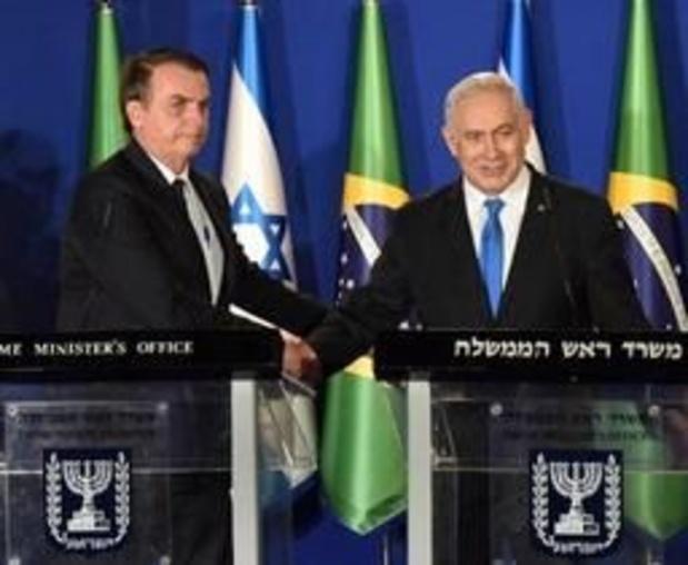 """Bolsonaro opent """"diplomatiek kantoor"""" in Jeruzalem, maar nog geen ambassade"""