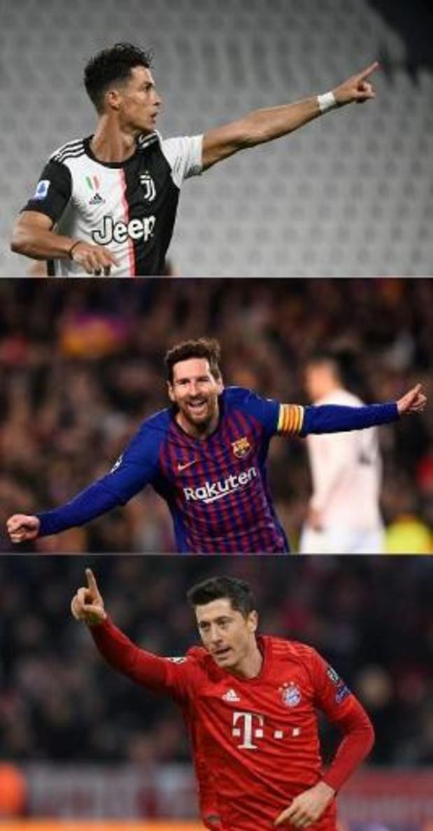 Cristiano Ronaldo, Robert Lewandowski ou Lionel Messi aux anges vendredi
