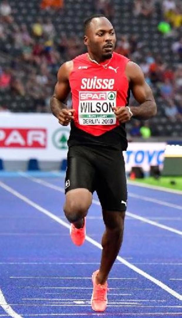 Athlétisme: énorme performance du Suisse Wilson sur 100 m, potentiel record d'Europe