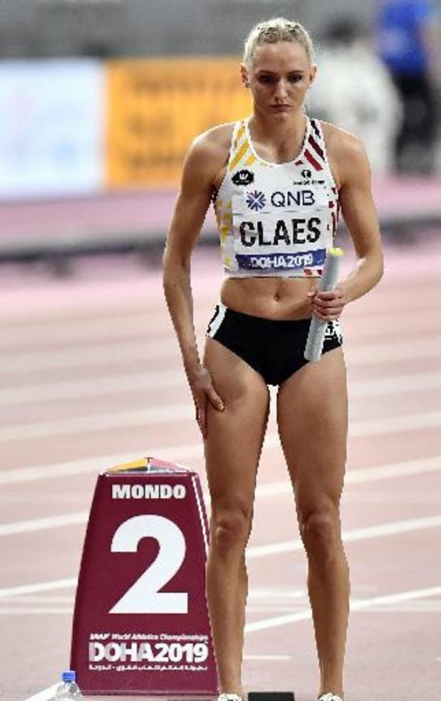 """Hanne Claes loopt eerste 400 meter horden in bijna twee jaar: """"Heel blij dat ik terug ben"""""""